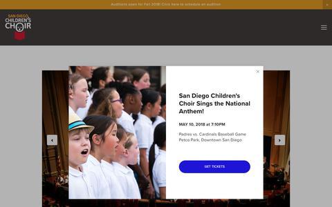 Video/Photo — San Diego Children's Choir