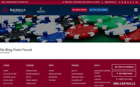 Screenshot of Press Page baymillscasinos.com - Press - Bay Mills Resort & Casinos - captured Feb. 10, 2018