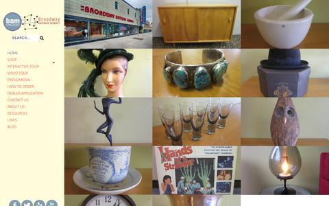 Screenshot of Home Page bamchicago.com - Home | Broadway Antique MarketBroadway Antique Market - captured Sept. 22, 2015