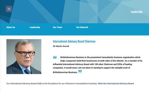 Screenshot of Team Page babinc.org - Leadership - BritishAmerican Business - captured Dec. 19, 2018