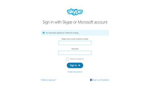 Sign into your Skype account