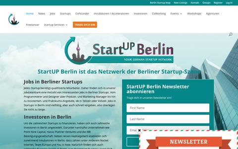 Screenshot of Home Page startup-berlin.com - StartUP Berlin - Dein Netzwerk der Berliner Startup-Szene - captured Dec. 5, 2016