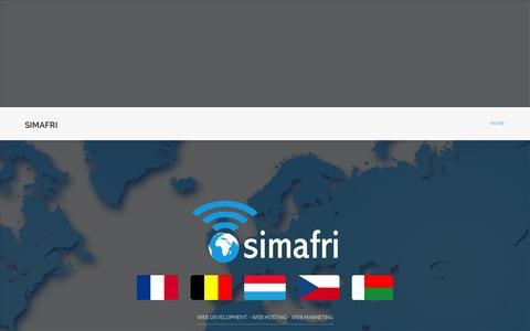 Screenshot of About Page simafri.com - Simafri : Web Solutions - captured Oct. 26, 2014