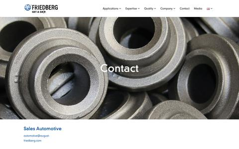 Screenshot of Contact Page august-friedberg.com - Contact - August Friedberg - captured Oct. 4, 2018
