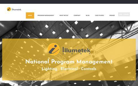 Screenshot of Home Page illumetek.com - Illumetek Corporation - captured Oct. 14, 2017