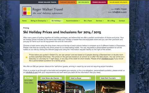 Screenshot of Pricing Page ski-2.com - Ski Holiday Prices - captured Oct. 4, 2014