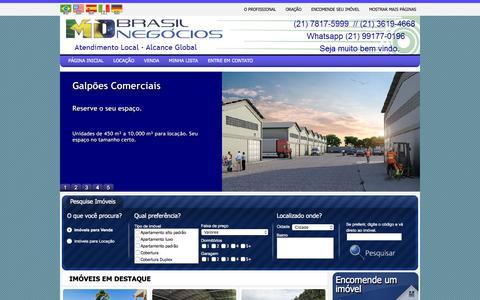 Screenshot of Home Page mdbn.com.br - Locação e venda de imóveis residenciais e comerciais - Mac Dowell  - Agente imobiliário - captured March 29, 2016