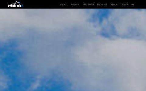 Screenshot of Home Page avantexpo.com - AvantExpo 2016 Home Page - AvantExpo 2016 - captured Jan. 25, 2016
