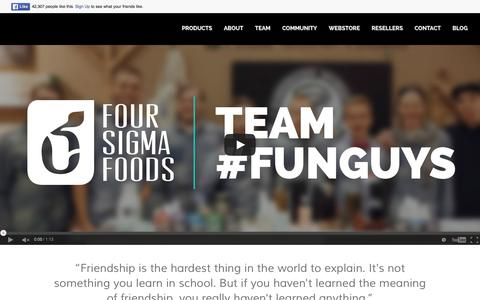 Screenshot of Team Page foursigmafoods.com - Team Behind Superfood Mushrooms | Four Sigma Foods - captured Jan. 8, 2016