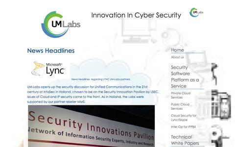 Screenshot of Press Page um-labs.com - News - captured Sept. 17, 2014
