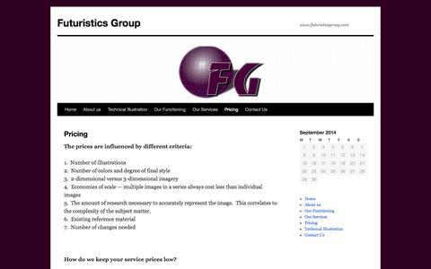Screenshot of Pricing Page futuristicsgroup.com - Pricing   Futuristics Group - captured Sept. 30, 2014