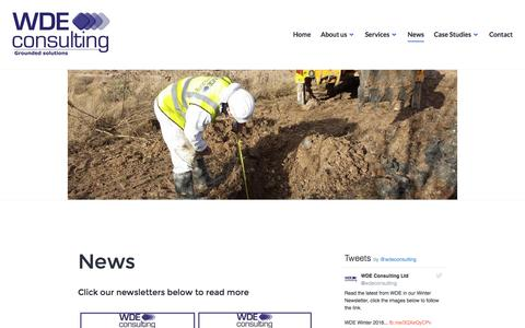Screenshot of Press Page wdeconsulting.co.uk - News – WDE Consulting - captured Dec. 20, 2016