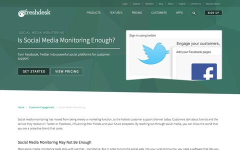 Is your Social Media Monitoring enough? | Track everything on the social platform with Freshdesk