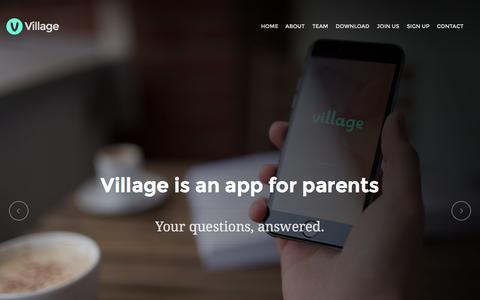 Screenshot of Home Page villageparents.co - Village   For Parents - captured June 18, 2015