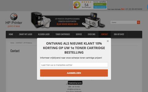 Screenshot of Contact Page hp-printer.eu - HP-Printer.eu » Vragen? Neem contact met ons op! - captured March 19, 2017
