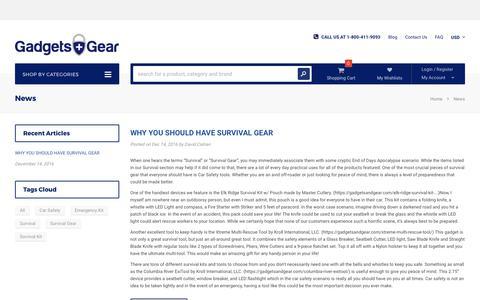 Screenshot of Press Page gadgetsandgear.com - News – Gadgets And Gear - captured June 25, 2017
