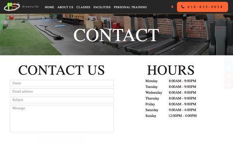 Screenshot of Contact Page bookingnest.com - Contact - Fresh Start Fitness - captured Nov. 1, 2017