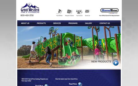 Screenshot of Home Page Privacy Page gwpark.com - Great Western Park & Playground - captured Oct. 3, 2014