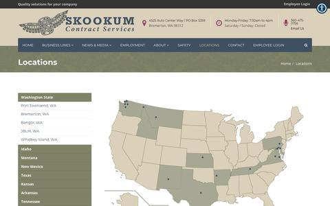 Screenshot of Locations Page skookum.org - Locations – Skookum Contract Services - captured Oct. 18, 2018