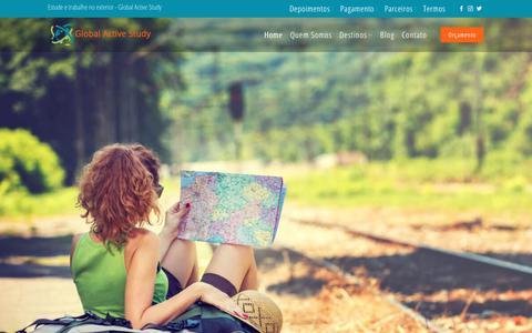 Screenshot of Home Page globalactivestudy.com - Global Active Study - Especialistas em Intercâmbio - captured July 19, 2018