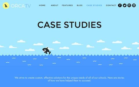 Screenshot of Case Studies Page orcatv.com - Case Studies — OrcaTV - captured Feb. 14, 2016