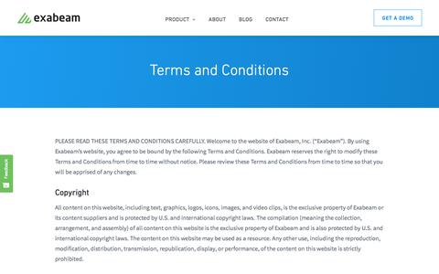 Terms and Conditions - Exabeam : Exabeam