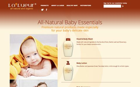 Screenshot of Products Page lalueur.net - Products | Lalueur - captured Oct. 28, 2014