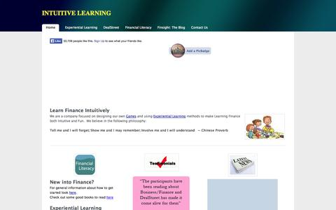 Screenshot of Home Page intuitive-learning.com - INTUITIVE LEARNING - Intuitive Learning Home - captured Sept. 30, 2014