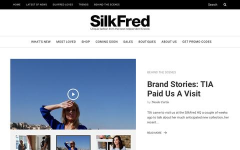 Screenshot of Blog silkfred.com - SilkFred Blog – Join the tribe for styling tips, fashion edits and brand interviews from SilkFred HQ - captured Nov. 26, 2016
