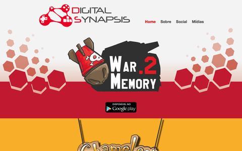 Screenshot of Home Page digitalsynapsis.com.br - Digital Synapsis - home - captured Jan. 7, 2016