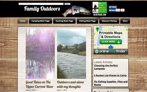 Screenshot of Home Page family-outdoors.com - Fishing, Hunting, Camping | Family-Outdoors - captured Aug. 3, 2016