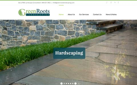 Screenshot of Home Page greenrootslandscaping.com - Home - Green Roots Landscaping - captured Jan. 23, 2015