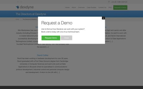 Screenshot of Team Page dexdyne.com - People at Dexdyne - Find out about the people behind Dexdyne Ltd - captured Feb. 9, 2016
