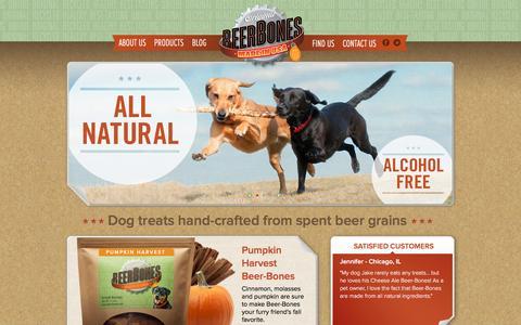 Screenshot of Home Page beer-bones.com - Beer-Bones - captured Feb. 6, 2016