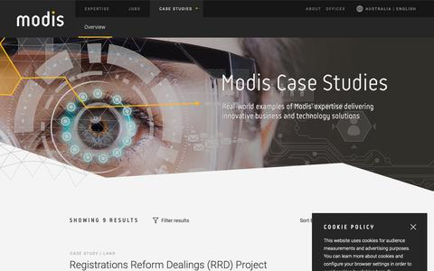 Screenshot of Case Studies Page modis.com - Modis Australia   Case Studies - captured Dec. 7, 2018