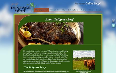 Screenshot of About Page tallgrassbeef.com - About Tallgrass Beef - captured March 6, 2016