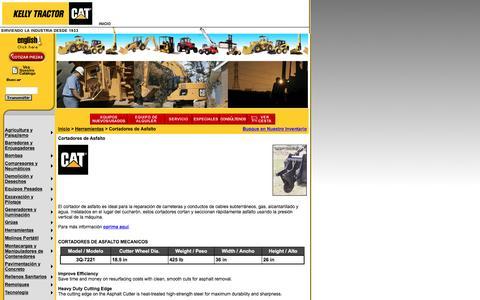 Screenshot of Landing Page kellytractor.com - Kelly Tractor: Cortadores de Asfalto - captured Aug. 12, 2016