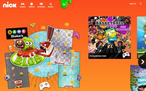 Screenshot of Home Page nick.com - Nickelodeon Games, Episodes, Shows & Characters | Nick.com - captured Sept. 30, 2015