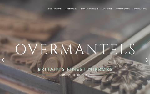 Screenshot of Home Page overmantels.co.uk - Home - Overmantels Mirrors - captured Oct. 20, 2018