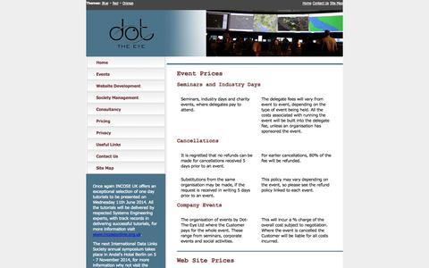 Screenshot of Pricing Page dot-the-eye.com - Pricing Information: Dot-The-Eye Ltd - captured Oct. 5, 2014