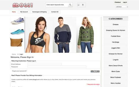Screenshot of Login Page aboggt.com - Login : Womens Dresses & Knitwear 2017 - Cheap Handbags For Mens - captured Nov. 19, 2016