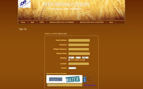 Screenshot of Signup Page webs.com - Signup - captured Feb. 12, 2018