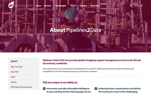 Screenshot of About Page pipelines2data.com - Pipelines 2 Data - About P2D - captured Nov. 7, 2016