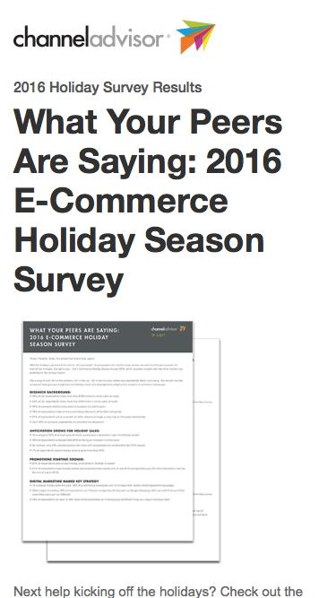 Are You Prepared for the 2016 Holiday Shopping Season? | ChannelAdvisor