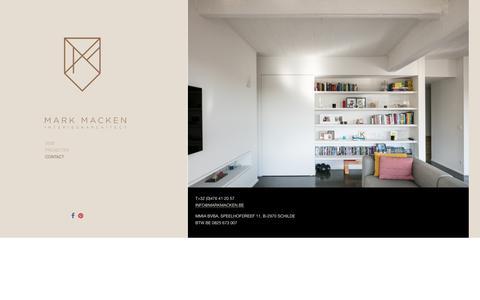 Screenshot of Contact Page markmacken.be - Contact - interieurarchitect Mark Macken - captured Sept. 30, 2017