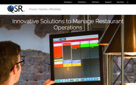 Screenshot of Home Page qsrautomations.com - Innovative Solutions to Manage Restaurant Operations | QSR Automations - captured Dec. 6, 2015