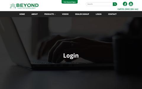Screenshot of Login Page beyondledtechnology.com - Login   LED Lights Atlanta Wholesaler Cheap LED Lights - captured Oct. 5, 2018