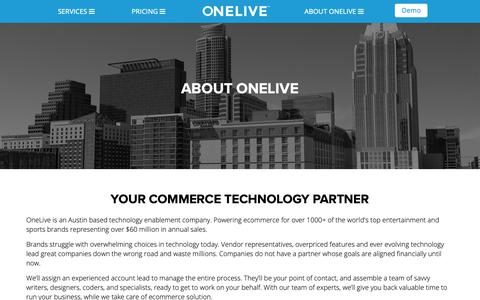 Screenshot of About Page onelivemedia.com - About Us | ONELIVE - captured Oct. 19, 2018