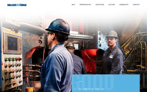 Screenshot of Jobs Page walkerforge.com - Manufacturing Careers | Wisconsin | Walker Forge - captured Oct. 18, 2018
