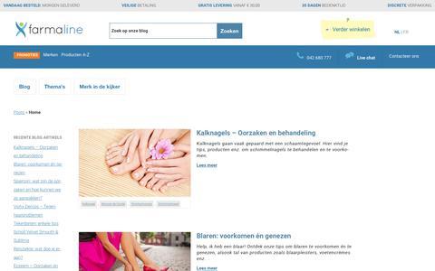 Screenshot of Blog farmaline.be - Online apotheek Blog - Farmaline - captured Aug. 3, 2016